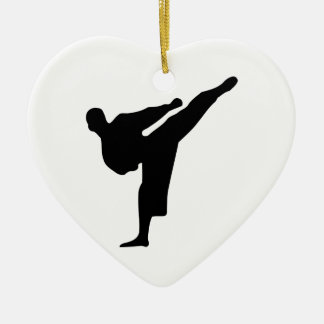 Karate Silhouette Christmas Ornament