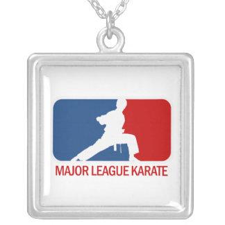 Karate Square Pendant Necklace