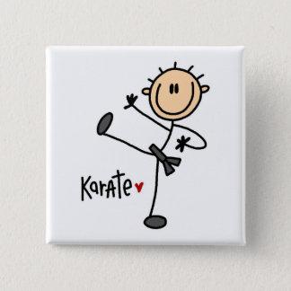 Karate Stick Figure Button