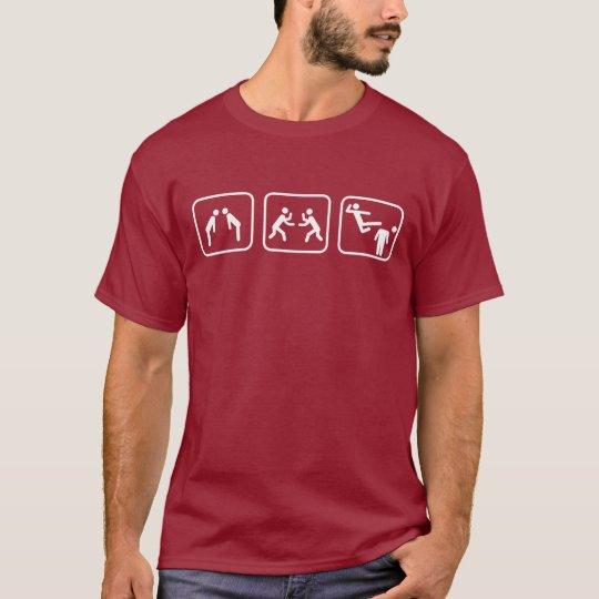 Karate Stick Figures T-Shirt