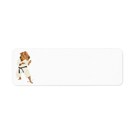 Karate Terrier Return Address Label