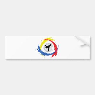Karate Tricolor Emblem Bumper Sticker