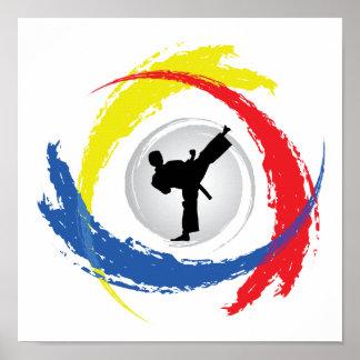 Karate Tricolor Emblem Posters