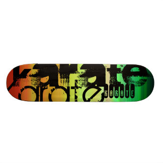 Karate; Vibrant Green, Orange, & Yellow Skateboard Decks
