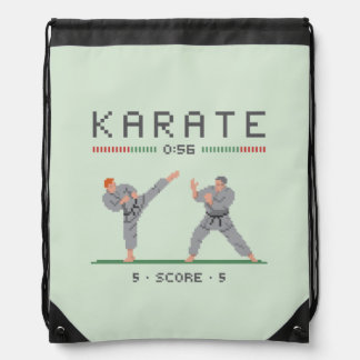 Karate Video Game Drawstring Bag
