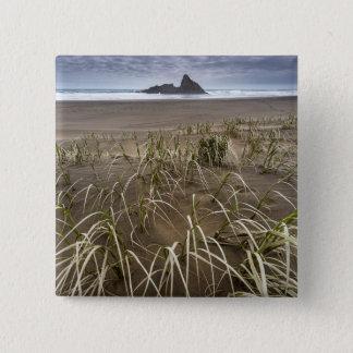 Karekare Beach | Panatahi Island, West Coast 15 Cm Square Badge