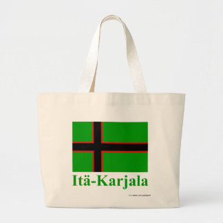 Karelia Flag with Name in Finnish Large Tote Bag