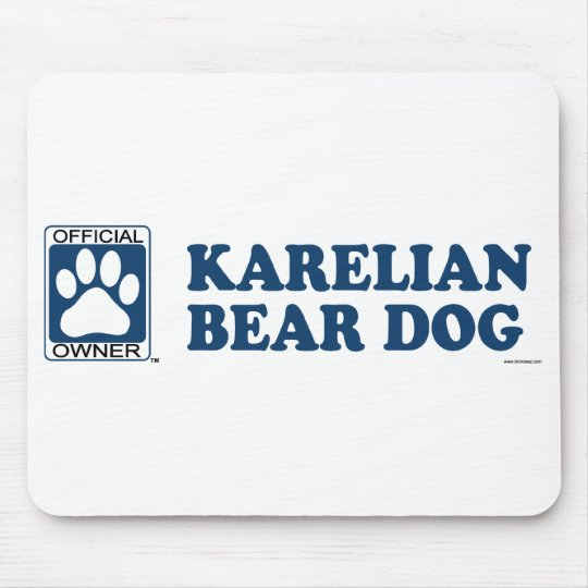 Karelian Bear Dog Blue Mouse Pad