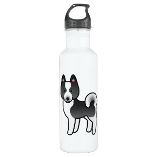 Karelian Bear Dog Cartoon 710 Ml Water Bottle