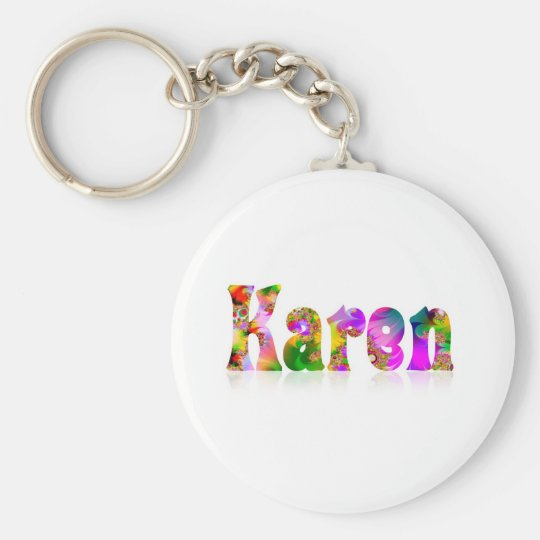 Karen Basic Round Button Key Ring