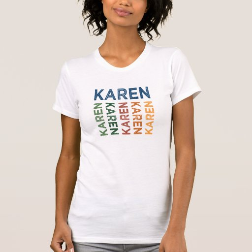 Karen Cute Colorful Tee Shirts