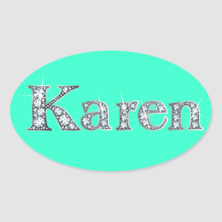 """Karen"" Diamond Bling Sticker"