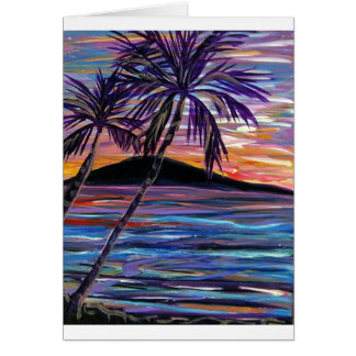 karen H's sunset Greeting Card