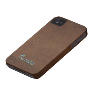 KAREN Leather-look Customised Phone Case Case-Mate iPhone 4 Cases