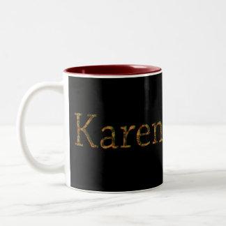 KAREN Name-Branded Gift Drinking Mug