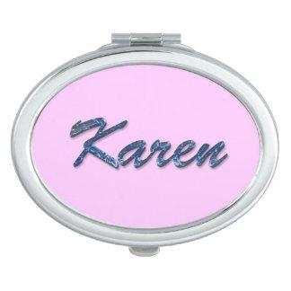 KAREN Name Branded Gift for Women Mirrors For Makeup