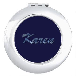 KAREN Name Branded Gift for Women Vanity Mirrors