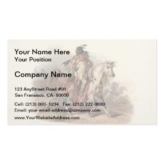 Karl Bodmer- A Blackfoot Indian on Horseback Business Card Templates