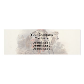 Karl Bodmer- A Blackfoot Indian on Horseback Business Card Template