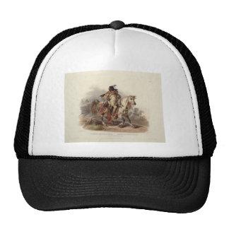 Karl Bodmer- A Blackfoot Indian on Horseback Mesh Hat