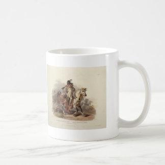 Karl Bodmer- A Blackfoot Indian on Horseback Mug