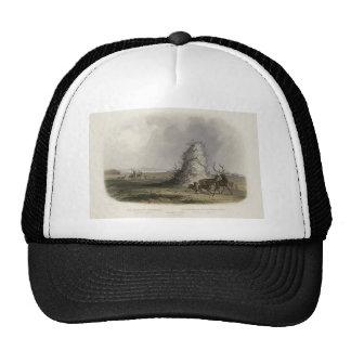 Karl Bodmer-Elkhorn Pyramid on the Upper Missouri Trucker Hats