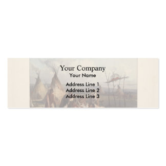 Karl Bodmer- Funeral Scaffold of a Sioux Chief Business Card