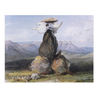 Karl Bodmer - Magic Pile of Assinboin Indians Postcard