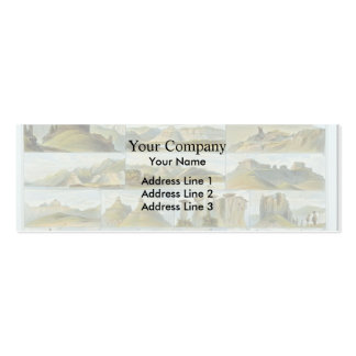Karl Bodmer-Remarkable Hills on the Upper Missouri Double-Sided Mini Business Cards (Pack Of 20)