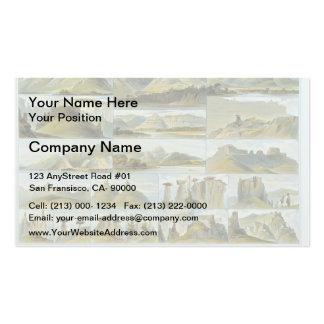 Karl Bodmer-Remarkable Hills on the Upper Missouri Business Card Templates