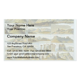 Karl Bodmer-Remarkable Hills on the Upper Missouri Double-Sided Standard Business Cards (Pack Of 100)