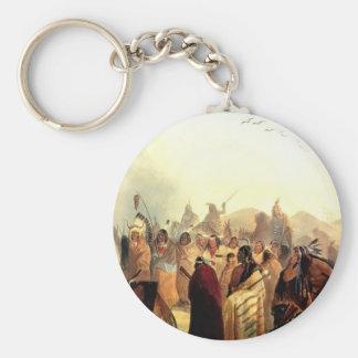 Karl Bodmer- Scalp Dance of the Minatarres Key Chains