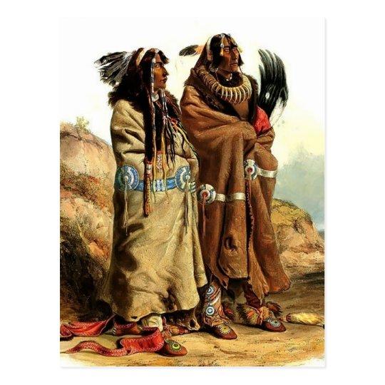 Karl Bodmer-SihChida&MahchsiKarehde,Mandan Indians Postcard