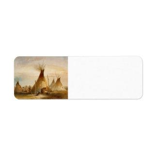 Karl Bodmer- Sioux teepee