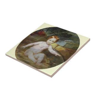 Karl Bryullov- Child in a Swimming Pool Ceramic Tile