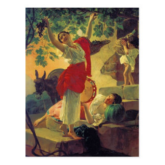 Karl Bryullov- Girl Gathering Grapes in a Suburb Postcard