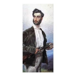 Karl Bryullov- Portrait of Antonio Tittoni Custom Rack Card