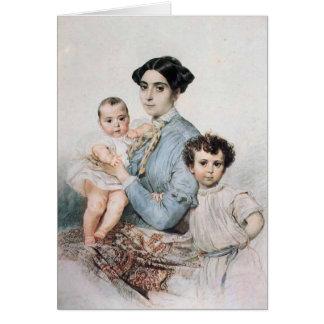 Karl Bryullov- Portrait of Teresa Tittoni & Sons Cards