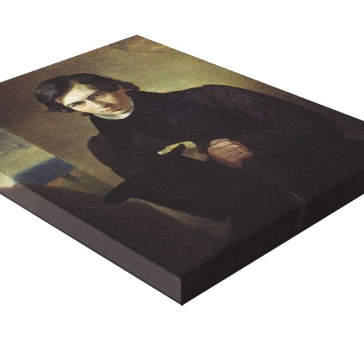 Karl Bryullov- Portrait of the Poet and Playwright Gallery Wrapped Canvas