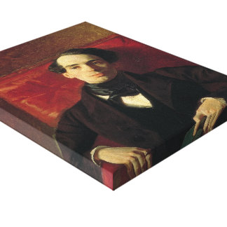 Karl Bryullov- Portrait of the Poet and Translator Gallery Wrap Canvas