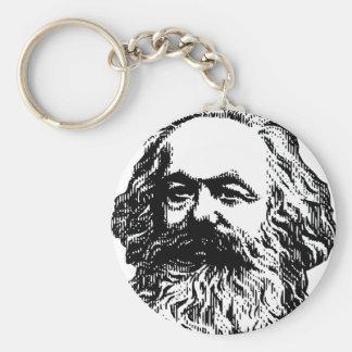 Karl Marx -4jtd4 Basic Round Button Key Ring