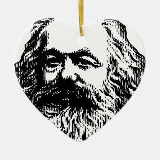 Karl Marx -4jtd4 Ceramic Heart Decoration