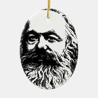 Karl Marx -4jtd4 Ceramic Oval Decoration