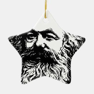 Karl Marx -4jtd4 Ceramic Star Decoration