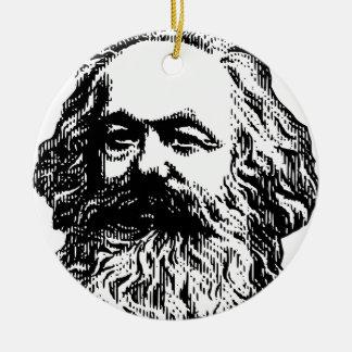 Karl Marx -4jtd4 Round Ceramic Decoration