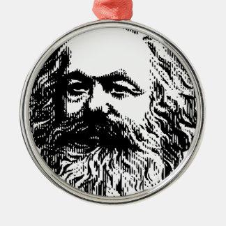 Karl Marx -4jtd4 Silver-Colored Round Decoration