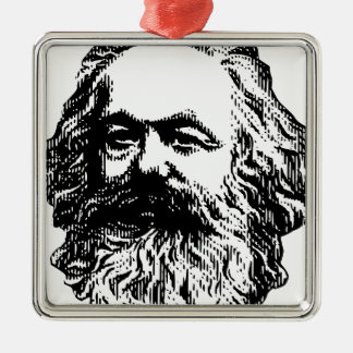 Karl Marx -4jtd4 Silver-Colored Square Decoration