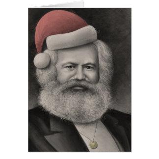 Karl Marx as Santa 1 Card