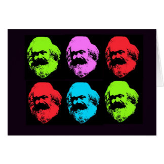 Karl Marx Collage Card
