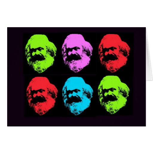 Karl Marx Collage Greeting Card